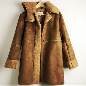 Moon River at Anthropology Suede Coat -  NWT